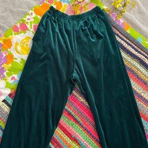 VINTAGE GREEN VELVET PANTS size s